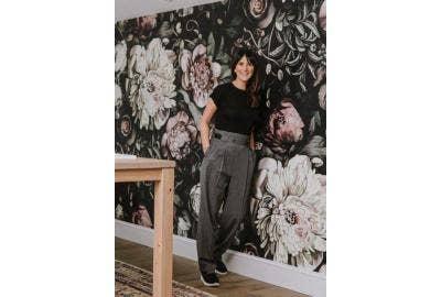 Dark floral wallpaper design