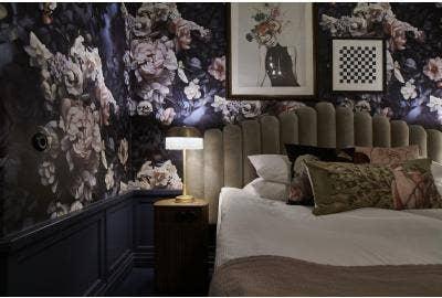 Floral wallpaper hotel