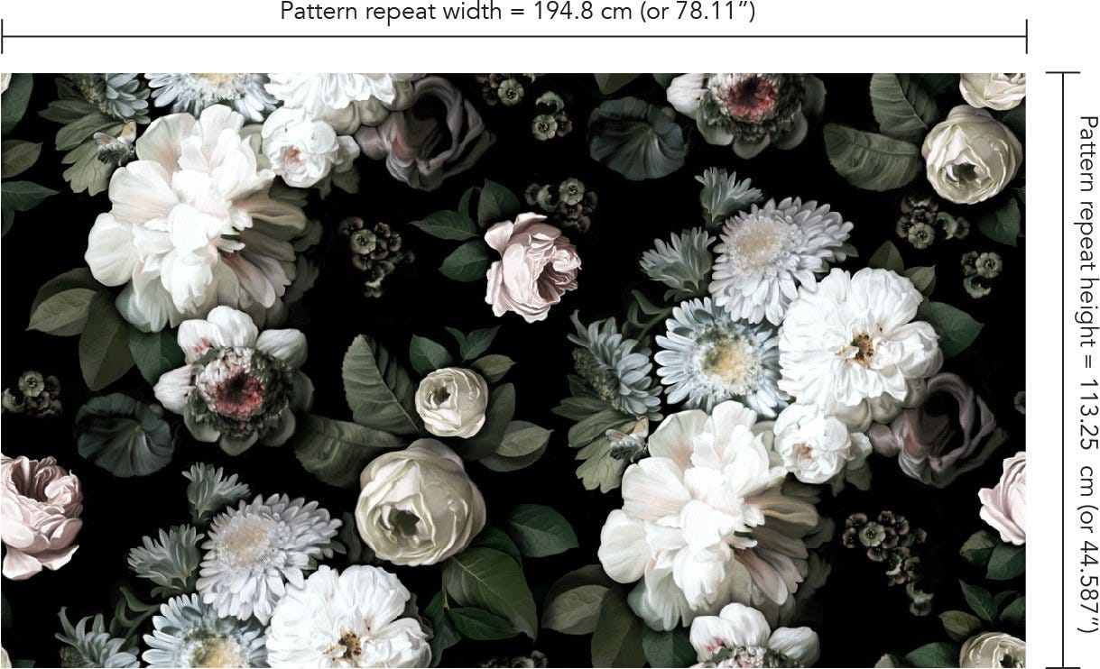 Dark Floral Wallpaper Black Floral Wallpaper Ellie Cashman Design