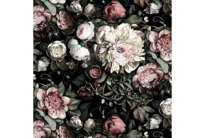 Dark Floral II Black Saturated